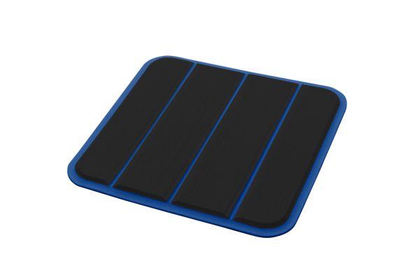 6mm - Brossé - Black/Bimini Blue