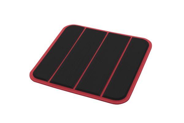 6mm - Brossé - Black/Ruby Red