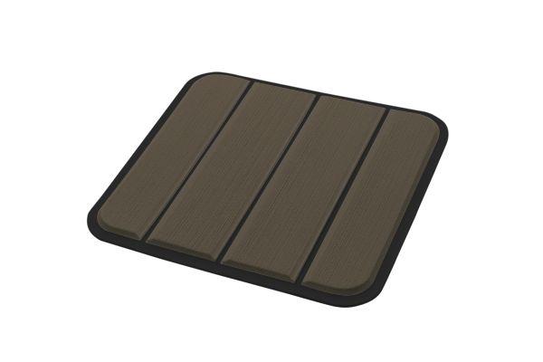6mm - Brossé - Chocolate/Black