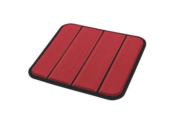 6mm - Brossé - Ruby Red/Black