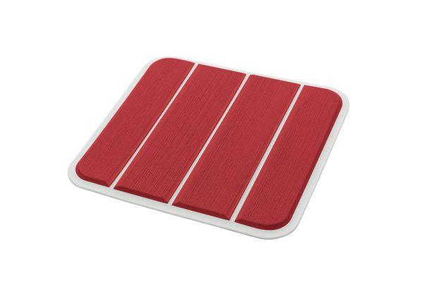 6mm - Brossé - Ruby Red/Cool Gray